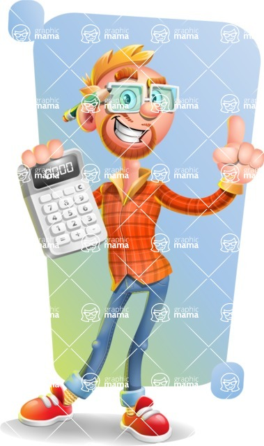 Casual Man with Glasses 3D Vector Cartoon Character - Shape 5