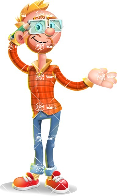 Casual Man with Glasses 3D Vector Cartoon Character AKA Sean Ginger - Sorry