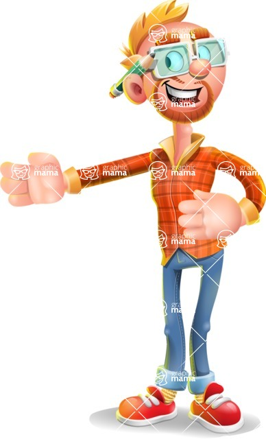 Casual Man with Glasses 3D Vector Cartoon Character AKA Sean Ginger - Show 2