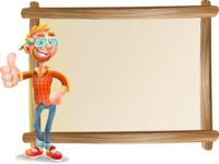 Casual Man with Glasses 3D Vector Cartoon Character AKA Sean Ginger - Presentation 5