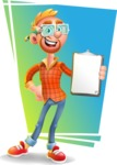 Casual Man with Glasses 3D Vector Cartoon Character AKA Sean Ginger - Shape 11