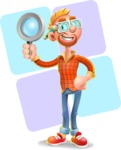 Casual Man with Glasses 3D Vector Cartoon Character - Shape 12