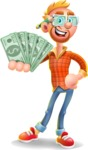Casual Man with Glasses 3D Vector Cartoon Character AKA Sean Ginger - Show me  the Money