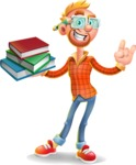 Casual Man with Glasses 3D Vector Cartoon Character AKA Sean Ginger - Book 2