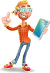 Casual Man with Glasses 3D Vector Cartoon Character AKA Sean Ginger - iPad 3