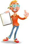 Casual Man with Glasses 3D Vector Cartoon Character AKA Sean Ginger - Notepad 1