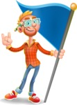 Casual Man with Glasses 3D Vector Cartoon Character AKA Sean Ginger - Checkpoint