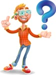 Casual Man with Glasses 3D Vector Cartoon Character AKA Sean Ginger - Question