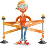 Casual Man with Glasses 3D Vector Cartoon Character AKA Sean Ginger - Under Construction 2