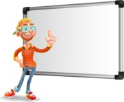 Casual Man with Glasses 3D Vector Cartoon Character AKA Sean Ginger - Presentation 3