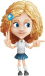 Little Blonde Girl with Curly Hair Cartoon Vector Character AKA Ella Sugarsweet - Point 2