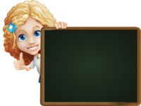 Little Blonde Girl with Curly Hair Cartoon Vector Character AKA Ella Sugarsweet - Presentation 5