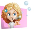 Little Blonde Girl with Curly Hair Cartoon Vector Character AKA Ella Sugarsweet - Shape 3