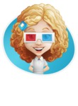 Little Blonde Girl with Curly Hair Cartoon Vector Character AKA Ella Sugarsweet - Shape 4