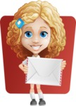 Little Blonde Girl with Curly Hair Cartoon Vector Character AKA Ella Sugarsweet - Shape 6