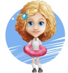 Little Blonde Girl with Curly Hair Cartoon Vector Character AKA Ella Sugarsweet - Shape 7