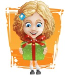 Little Blonde Girl with Curly Hair Cartoon Vector Character AKA Ella Sugarsweet - Shape 11
