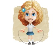 Little Blonde Girl with Curly Hair Cartoon Vector Character AKA Ella Sugarsweet - Shape 12