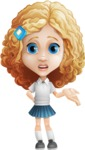 Little Blonde Girl with Curly Hair Cartoon Vector Character AKA Ella Sugarsweet - Sorry