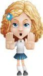 Little Blonde Girl with Curly Hair Cartoon Vector Character AKA Ella Sugarsweet - Stop 2