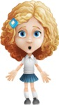 Little Blonde Girl with Curly Hair Cartoon Vector Character AKA Ella Sugarsweet - Stunned