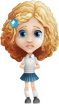 Little Blonde Girl with Curly Hair Cartoon Vector Character AKA Ella Sugarsweet - Sad