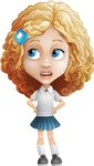 Little Blonde Girl with Curly Hair Cartoon Vector Character AKA Ella Sugarsweet - Roll Eyes