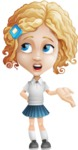 Little Blonde Girl with Curly Hair Cartoon Vector Character AKA Ella Sugarsweet - Lost