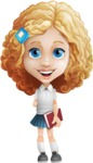 Little Blonde Girl with Curly Hair Cartoon Vector Character AKA Ella Sugarsweet - Patient