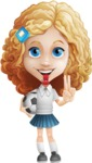 Little Blonde Girl with Curly Hair Cartoon Vector Character AKA Ella Sugarsweet - Socker