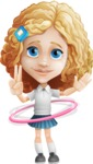 Little Blonde Girl with Curly Hair Cartoon Vector Character AKA Ella Sugarsweet - Hoop