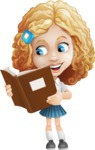 Little Blonde Girl with Curly Hair Cartoon Vector Character AKA Ella Sugarsweet - Book 2