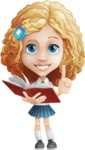 Little Blonde Girl with Curly Hair Cartoon Vector Character AKA Ella Sugarsweet - Book 3