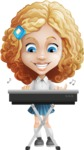 Little Blonde Girl with Curly Hair Cartoon Vector Character AKA Ella Sugarsweet - Music 1