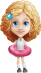 Little Blonde Girl with Curly Hair Cartoon Vector Character AKA Ella Sugarsweet - Beach 2