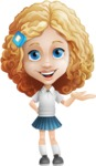 Little Blonde Girl with Curly Hair Cartoon Vector Character AKA Ella Sugarsweet - Showcase 2