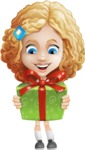 Little Blonde Girl with Curly Hair Cartoon Vector Character AKA Ella Sugarsweet - Gift