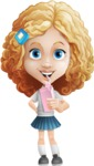 Little Blonde Girl with Curly Hair Cartoon Vector Character AKA Ella Sugarsweet - Shake