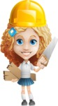 Little Blonde Girl with Curly Hair Cartoon Vector Character AKA Ella Sugarsweet - Under Construction