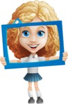 Little Blonde Girl with Curly Hair Cartoon Vector Character AKA Ella Sugarsweet - Frame