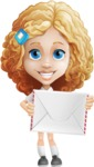 Little Blonde Girl with Curly Hair Cartoon Vector Character AKA Ella Sugarsweet - Letter