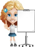 Little Blonde Girl with Curly Hair Cartoon Vector Character AKA Ella Sugarsweet - Presentation 1