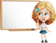 Little Blonde Girl with Curly Hair Cartoon Vector Character AKA Ella Sugarsweet - Presentation 3