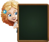 Little Blonde Girl with Curly Hair Cartoon Vector Character AKA Ella Sugarsweet - Presentation 4