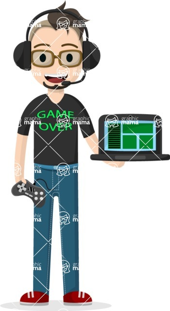 My Career: Guys - Vector gamer guy
