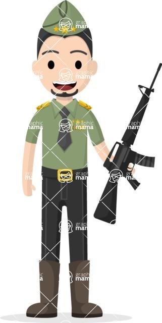 My Career: Guys - Military man with a gun