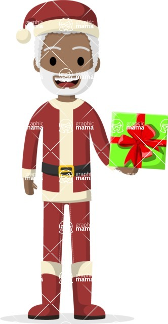 My Career: Guys - Santa Claus giving a present