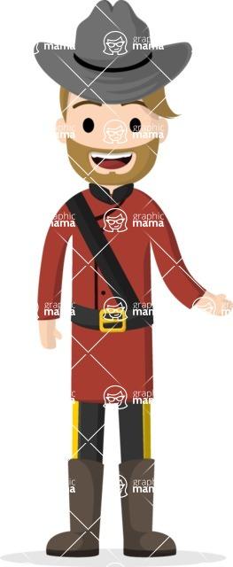 Man in Uniform Vector Cartoon Graphics Maker - Ranger