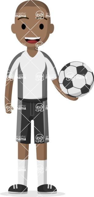 Man in Uniform Vector Cartoon Graphics Maker - Football guy