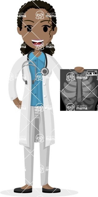 My Career: Vector Girls - Female doctor with Xray picture
